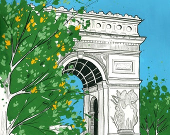 31 days in Paris, day 24: A monumental Summer, Arc de Triomphe.