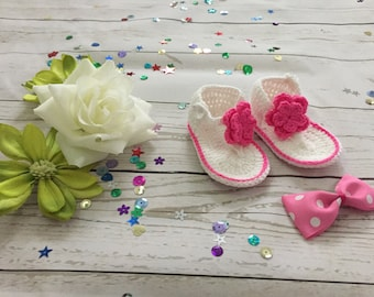 Baby Girl crib shoes, Baby Girl Flip flop sandals