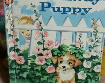 Rand McNally Elf Book Hide Away Puppy by Jessica Potter Broderick/Vintage 1961 Edition/Collectible Children's Book/Nursery/Baby Shower Decor
