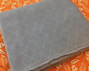 Blue Fleece Fabric Vintage. 1/2 yd. Light Blue Fleece Fabric. Quilted Fleece Fabric.