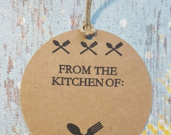 Kitchen Tags, Kitchen Labels. Gift Tags, Food Tags, Kitchen Gift Tags, Cooking Labels