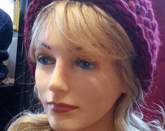 Hand Knit Chunky Merino Wool Hat Women Hand Knitted Wool Hat Chunky Wool Hat Gifts for Her Valentine's Day Gift