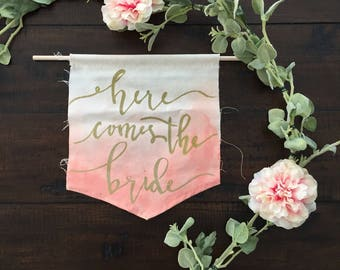 Here Comes the Bride Wedding Procession Banner