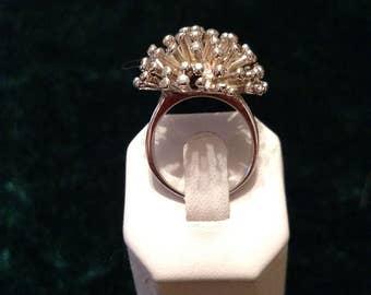Vintage Starburst Sterling Silver Ring Size 8 11.3g AFSP