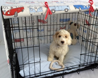 Medium crate cover -Campervan Crate Cover - Dog crate cover - Pet crate cover - Crate Cover - Crate cover for dogs - Pet crate- Kennel Cover