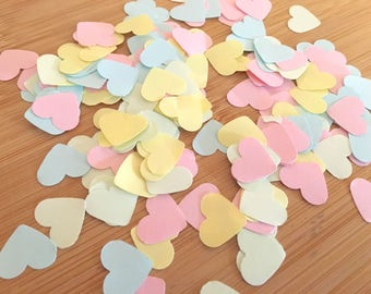 1000 x Pastel Heart Shaped Confetti