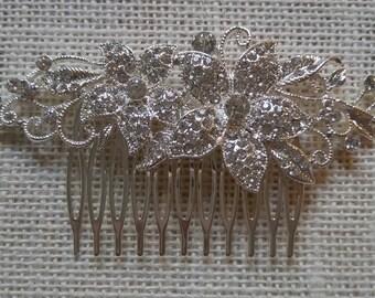Crystal Embellished Bridal Hair Come