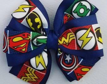 Marvel superhero 4 inch pinwheel hair bow
