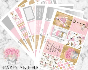 SALE - Parisian Chic Planner Stickers - MATTE | Erin Condren Vertical Weekly Planner Kit