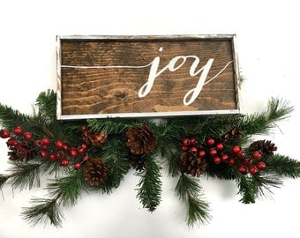 Joy Handcrafted Wooden Christmas Sign