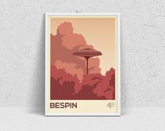 STAR WARS - BESPIN, planet print, travel poster, movie poster, minimalist, fan art