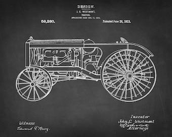 Vintage Farm Tractor Patent Art Print - Wisconsin Farm Tractor Company Farm Patent Print -Agricultural Patent - Farm Equipment Patent Print