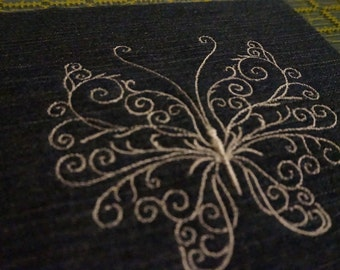 Embroidered Butterfly Denim Patch 008