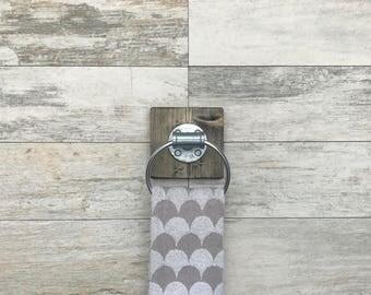 Industrial, Rustic, Modern, Handmade Hand Towel Ring, Bathroom Decor, Towel Ring, Pipe Bathroom, Kitchen, Gift