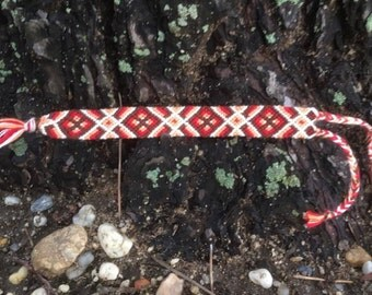 Tribal Diamond Pattern Friendship Bracelet
