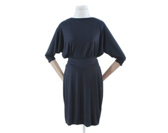 Jersey dress dark blue dress time, jersey dress