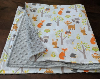 Woodland Baby Blanket, Woodland Creatures Blanket, Woodland Baby Shower, Fox Baby Blanket, Fox Baby Shower, Fox Baby Shower Woodland Nursery