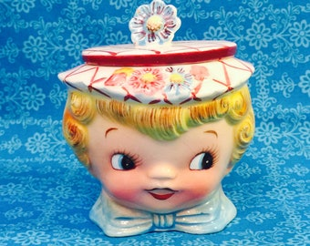 Lefton Miss Dainty Sugar Bowl made in Japan circa 1950s