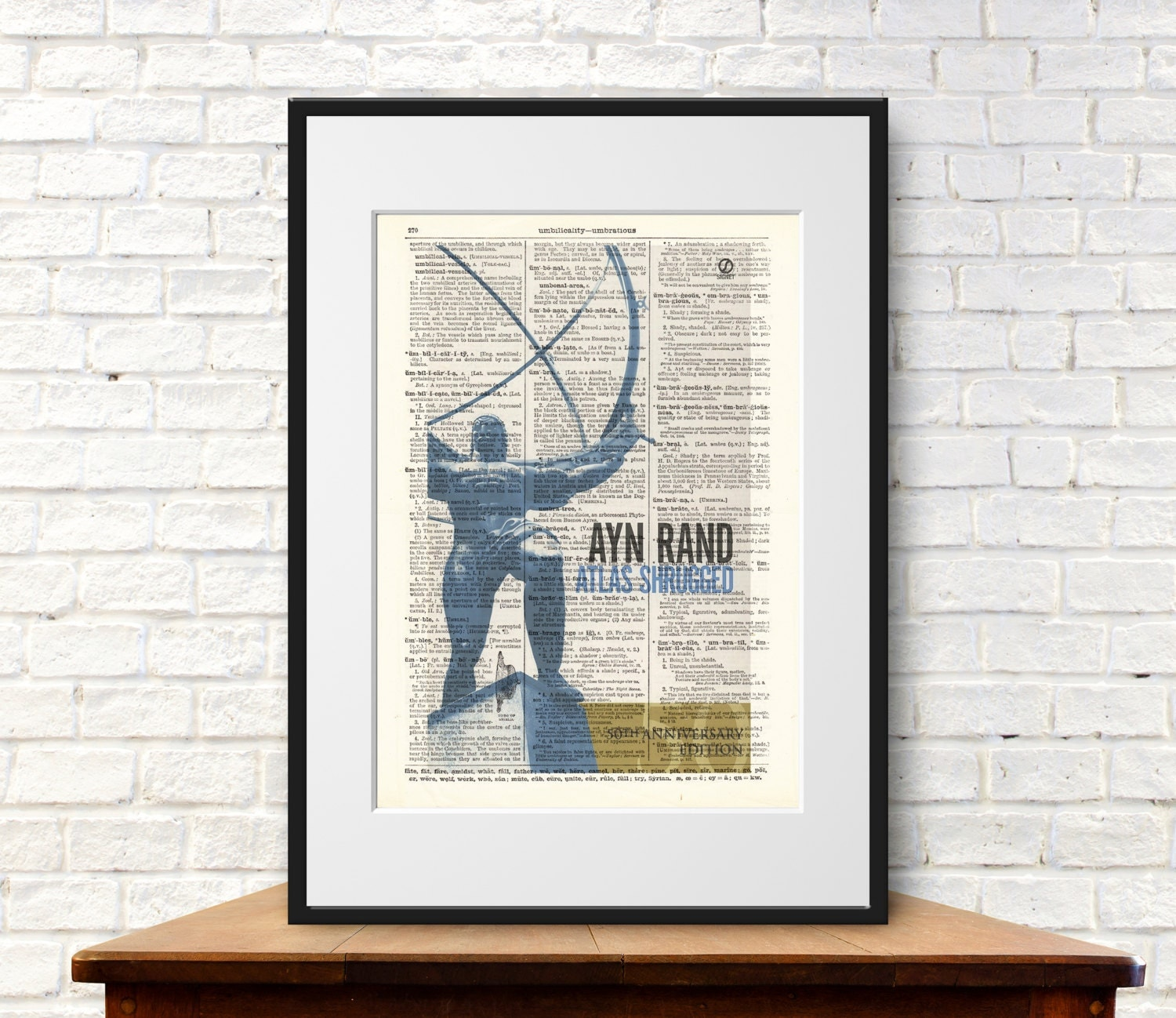 Ayn Rand Book Cover Art : Atlas shrugged by ayn rand book cover art print