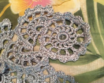 Crocheted lacey scarf
