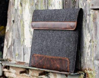 Dark Felt Dell Xps 13 sleeve. Leather Cover for Dell Xps 13 15 2 in 1. Dell xps 15 case. Dell inspiron case. 3000 5000 7000.