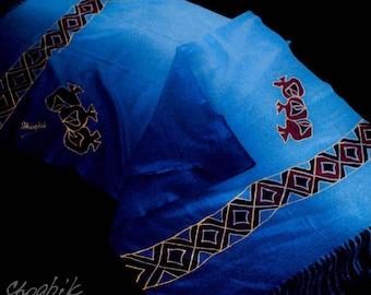 Armenian Hand Pinted Ornamental Cashmere Shawl Warm Shawl Gift for Her