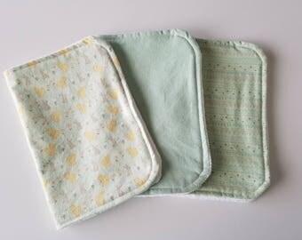 Aqua Burp Cloths (Set of 3)
