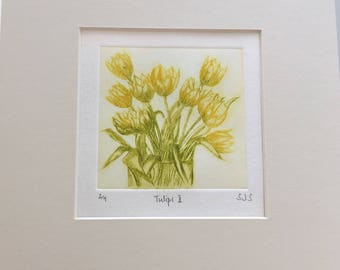 Tulips Print - Original Limited Edition Etching