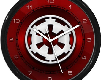 Star Wars Imperial Symbol  Wall Clock Personalized Boys Room Decor Wall Art Gift