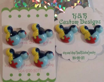 Mickey Mouse Autism Awareness Earrings