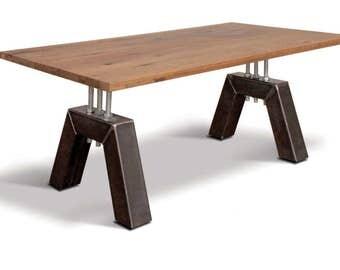 Handmade Metal Base Table