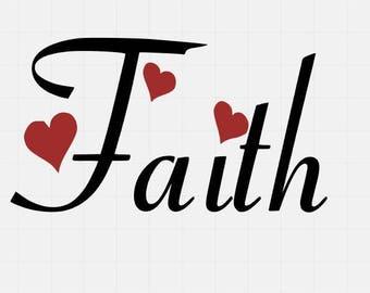Faith With Arrow Svg File, Svg Cutting File, Svg Cut File, Quote Svg File, Svg For Cricut, Svg For Silhouette,