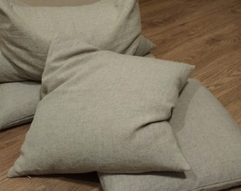 Organic Throw Pillow Insert  filled Buckwheat hulls /Organic pillow/buckwheat/Massage Orthopedic insert/organic insert/eco-frendly insert
