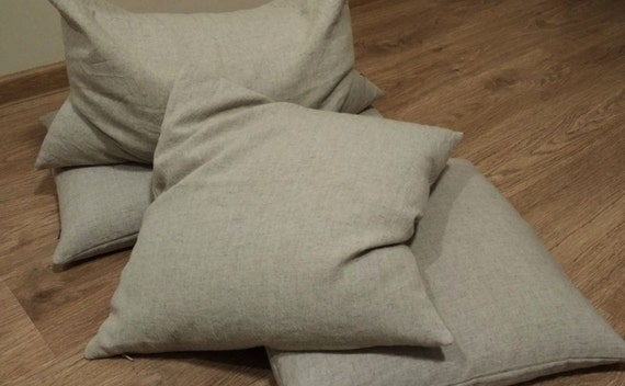 Organic Throw Pillow Inserts : Organic Throw Pillow Insert filled Buckwheat hulls /Organic