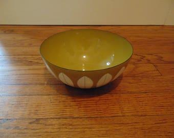 Cathrineholm Green Lotus Enamel Bowl