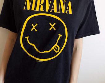 FREE SHIPPING!Nirvana Vintage 92 T-shirt