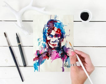 Abstract Portrait, Abstract Figure , Female Watercolor Print, Watercolour Art Print, Abstract Painting, Wall Art, Watercolour Home Decor