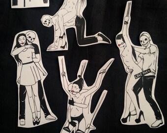 ON SALE Love Obey / BDSM Kink Sex / Sticker Pack