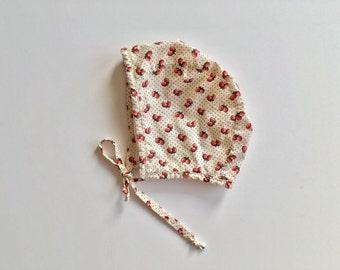 Strawberry Bonnet/Baby Bonnet/Toddler Bonnet