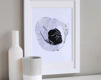 Fox & Rabbit Illustration Print
