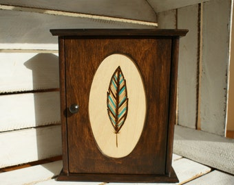 key box, wooden key cabinet, key organizer, rustic key box, key hanger, wall key hanger, wooden key holder