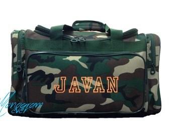 Camo Duffle Bag/ Boy's Overnight Bag/ Travel Bag