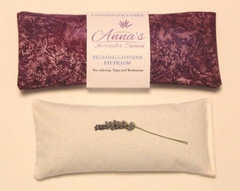 Relaxing Lavender Eye Pillow with Removable Cover Petite - Purple Metallic