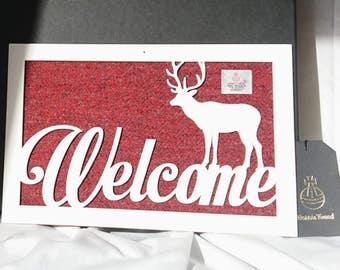 Harris Tweed Welcome plaque