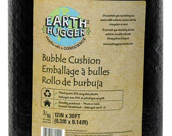Earth Hugger Bubble Cushion Wrap - 12in x 30ft - Black