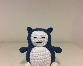 Inspired by Snorlax from pokemon crochet character