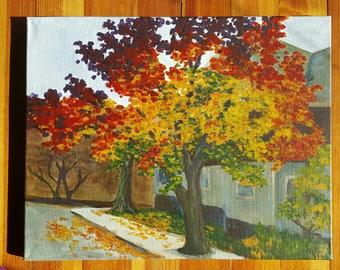 Custom landscape acrylic painting