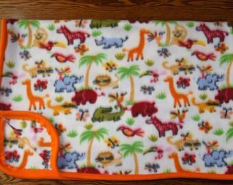 Jungle Animals Fleece Blanket