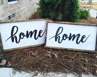 Wood home sign, rustic decor, home decor