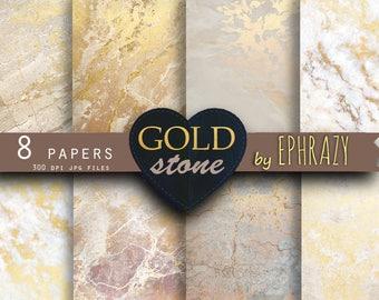 Marble digital paper. Digital paper. Marble background. Marble paper. Marble texture. Gold marble paper. Gold marble. Marble gold